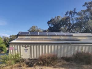 7 kW of solar panels on Kim's shed roof